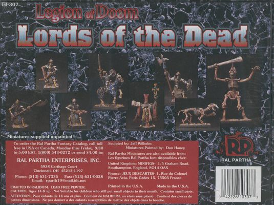 10-307 Legion of Doom, Lords of the Dead (back)